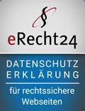 eRecht24 Datenschutz-Siegel